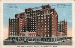 The New Nicollet Hotel Postcard