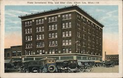 Home Investment Building and Elks' Club Postcard