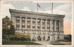 St. Louis County Court House - Central building in civic center Postcard