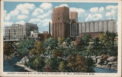 "Largest Flouring Mill in the world - Pillsbury ""A"" MIll Postcard"