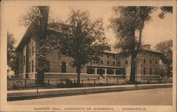 Sanford Hall, University of Minnesota Postcard