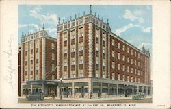 The Ritz Hotel, Washington Ave at 2nd Ave. Postcard