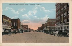 Chickasha Ave, Looking East Postcard