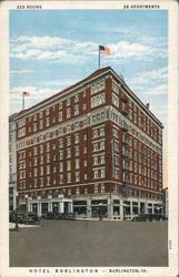 Hotel Burlington - 250 Rooms, 26 Apartments Postcard