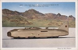 John Cobb Beats the Eyston Record for Speed on the Salt Flats of Great Salt Lake Postcard