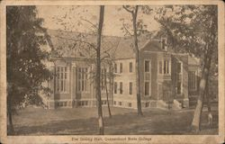 The Dinning Hall, Connecticut State College Postcard