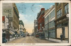 Fairfield Ave. looking East Postcard