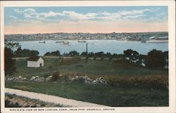 Bird's Eye View of New London, Conn., From Fort Griswold, Groton Postcard