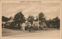 Bassett's Cabins Located on Route 1 Postcard