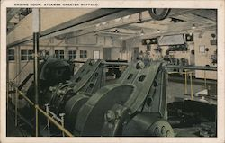 Engine Room, Steamer Greater Buffalo Postcard