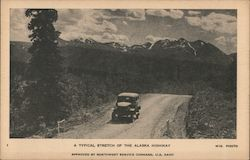 A Typical Stretch of the Alaska Highway Postcard