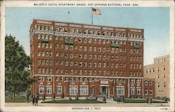Majestic Hotel Apartment Annex, Hot Springs National Park Postcard