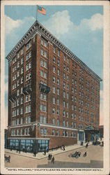 """Hotel Holland"" Deluth's Leading and Only Fireproof Hotel Postcard"