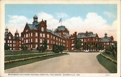 Woodmere Southern Indiana Hospital for Insane Postcard