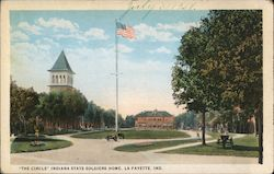 """The Circle"" Indiana State Soldiers Home Postcard"