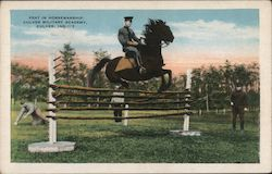 Feat in horsemanship, Culver Military Academy Postcard