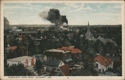 Bird's-Eye View West Postcard