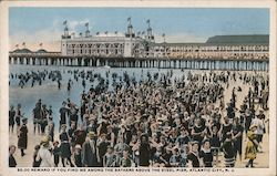 Bathers at Steel Pier Postcard