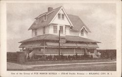 One of the group of Fox Manor Hotels 2720-40 Pacific Avenue Postcard