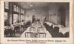 The Wheeler Dining Room, Pacific Avenue at Illinois - One block from Traymore Postcard