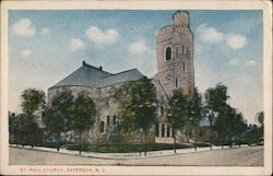 St. Paul Church Paterson, N.J. Postcard