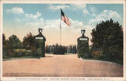 Entrance to Shadow Lawn, The New Summer White HOuse Postcard