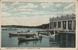 Canoeing on Lake Harriet Postcard