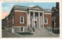 Mayne William's Library Postcard