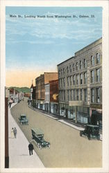 Main St, Looking North From Washington St. Postcard