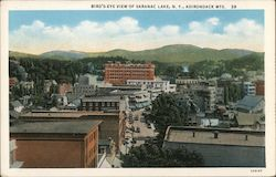 Bird's-Eye View of Saranac Lake, N.Y., Adirondack Mts. Postcard