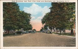 East Broadway near Park View Hotel and Monticello Inn Postcard