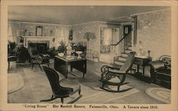 """Living Room"" The Randell Tavern. A Tavern Since 1810 Postcard"