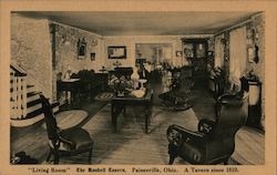 """Living Room"" of the Randell Tavern Postcard"