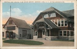 Skating and Curling Club,State Armory Postcard