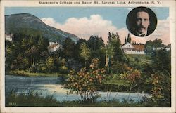 Stevenson's Cottage and Baker Mt. Postcard