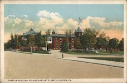 Chester Hospital, 9th and Barclay Streets Postcard