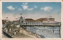 Birdseye View of Steeple Chase Pier & Boardwalk Postcard