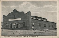 Knights of Columbus Building, Camp Lee Postcard