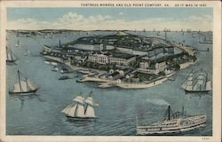 Fortress Monroe and Old Point Comfort - As it was in 1861 Postcard