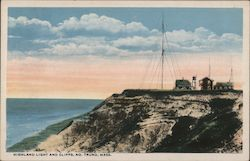 Highland Light and Cliffs, Marconi Wireless Station Postcard