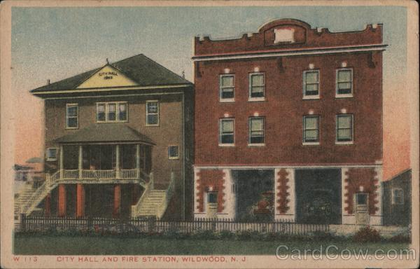 City Hall and Fire Station Wildwood New Jersey
