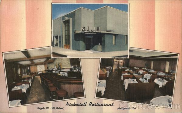 Nickodell Restuarant Hollywood California