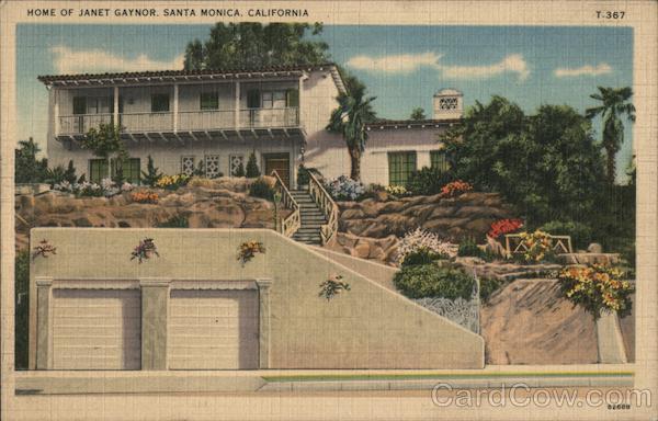 Home of Janet Gaynor Santa Monica California