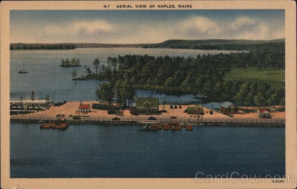 Aerial View Naples Maine