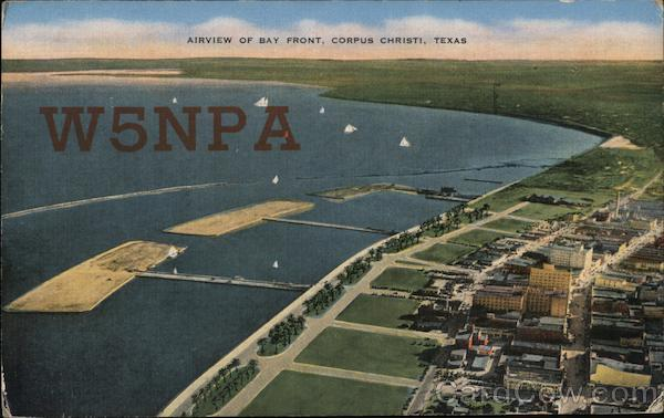 Airview of Bay Front Corpus Christi Texas