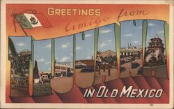 Greetins amigo from Tijuana in old Mexico Postcard