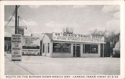 South on the Border Down Mexico Way, Hiway 81 & 83 Postcard