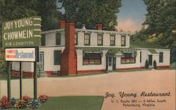 Joy Young Restaurant - U.S. Route 301 -5 miles south Petersburg, Virginia Postcard