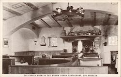 California Room in The Brown Derby Restaurant Postcard