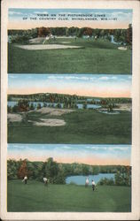 Views on the picturesque links of the country club Postcard